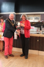 Janet wins best plot 2012 at the Byfleet Horticultural show