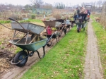 We used a lot of wheelbarrows when we put the new troughs in